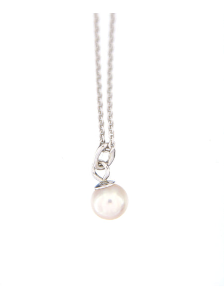 Tiny White Pearl Bubble Pendant, 5.0 mm