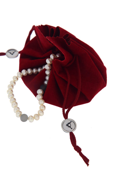 Moon River Pearl Necklace by Peregrina Pearls in branded packaging