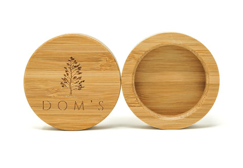 Dom's natural deodorant bamboo lids