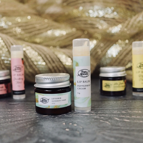 Pure Anada lip scrub and balm