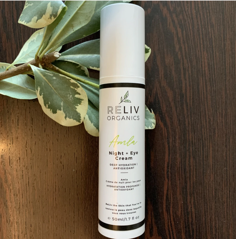 Reliv Organics Amla night and eye cream