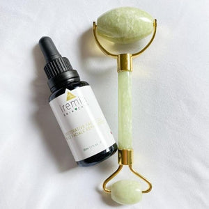 Iremia Skincare jade roller and oil set