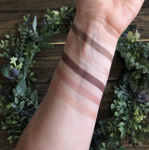Pure Anada eye shadow wrist swatch