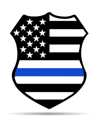 Police Shield Metal Sign