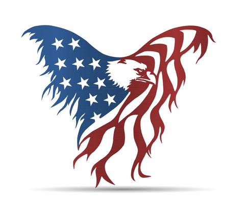 Eagle Flag Metal Sign