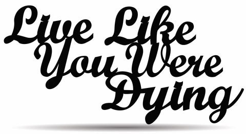 Live Like You Were Dying Metal Sign