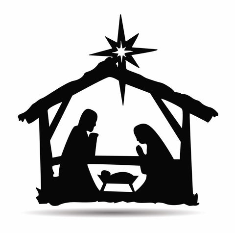 Manger, Nativity Scene Metal Sign