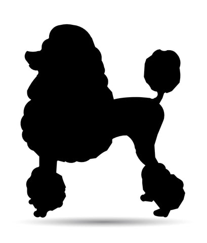 Poodle Metal Sign