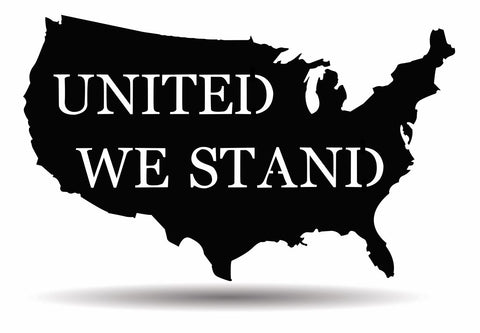 "USA ""United We Stand"" Metal Sign"