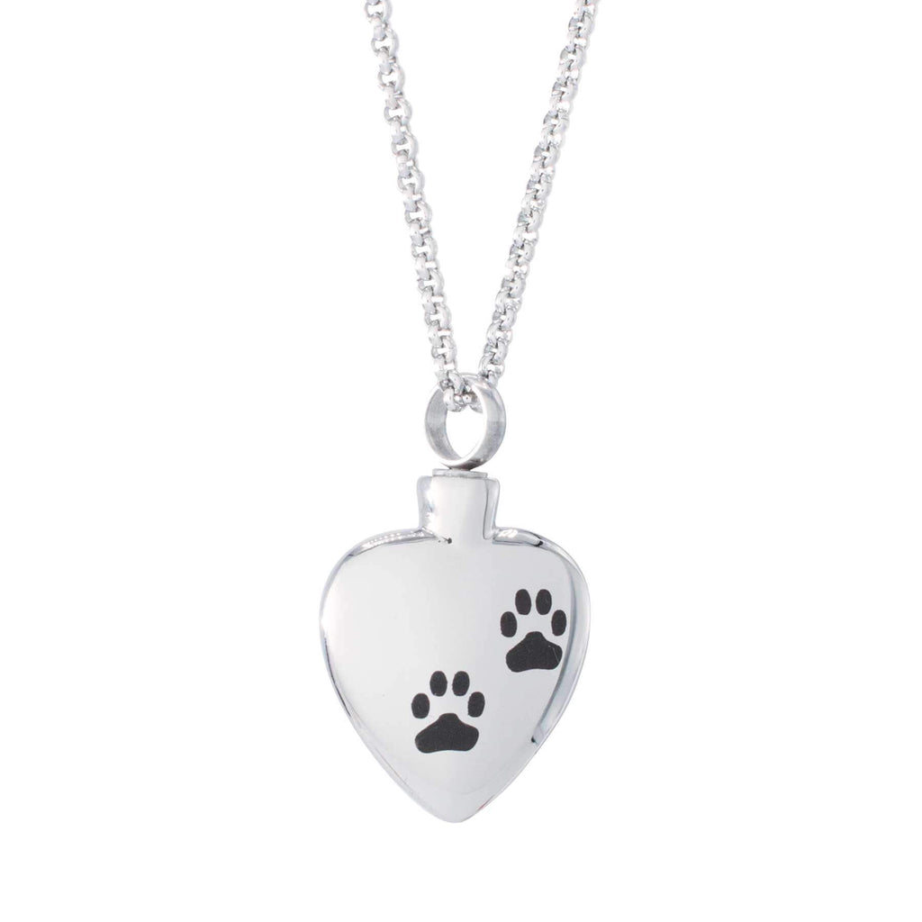 Heart Cremation Pendant with Dog Paws [ENGRAVING & SHIPPING INCLUDED]