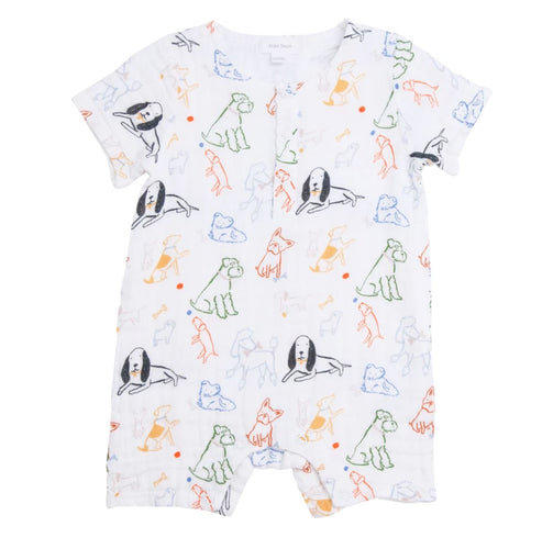 Bark Life Shortall Overalls Angel Dear 3-6m