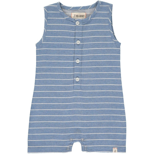 Blue Stripe Playsuit - Pitter Patter