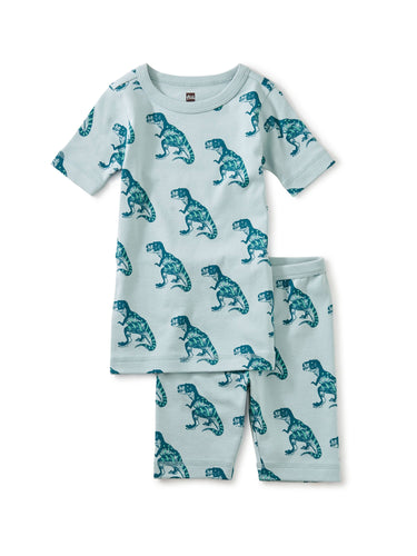 Dino Shortie Pajama Set - Pitter Patter