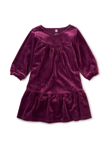Elderberry Velour Dress - Pitter Patter