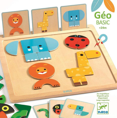 GeoBasic Magnetic Tangram Board - Pitter Patter