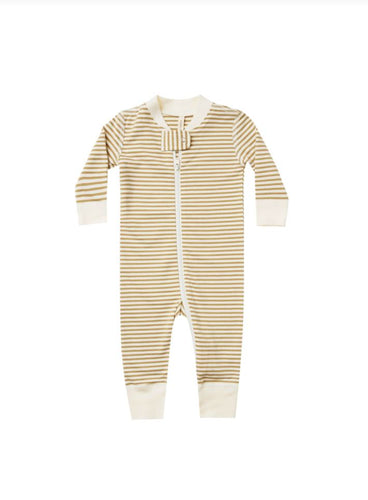 Gold Stripe Sleeper Romper Quincy Mae 0-3m