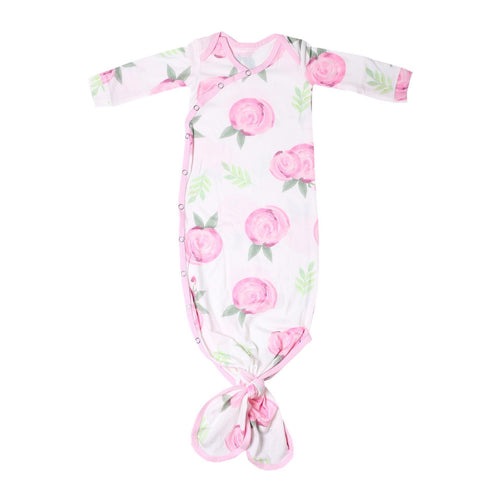 Grace Pink Floral Knotted Gown Gown Copper Pearl NB-3m