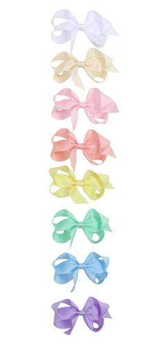 Grosgrain Bow Hair Clip/Tie Bows Arts Pink