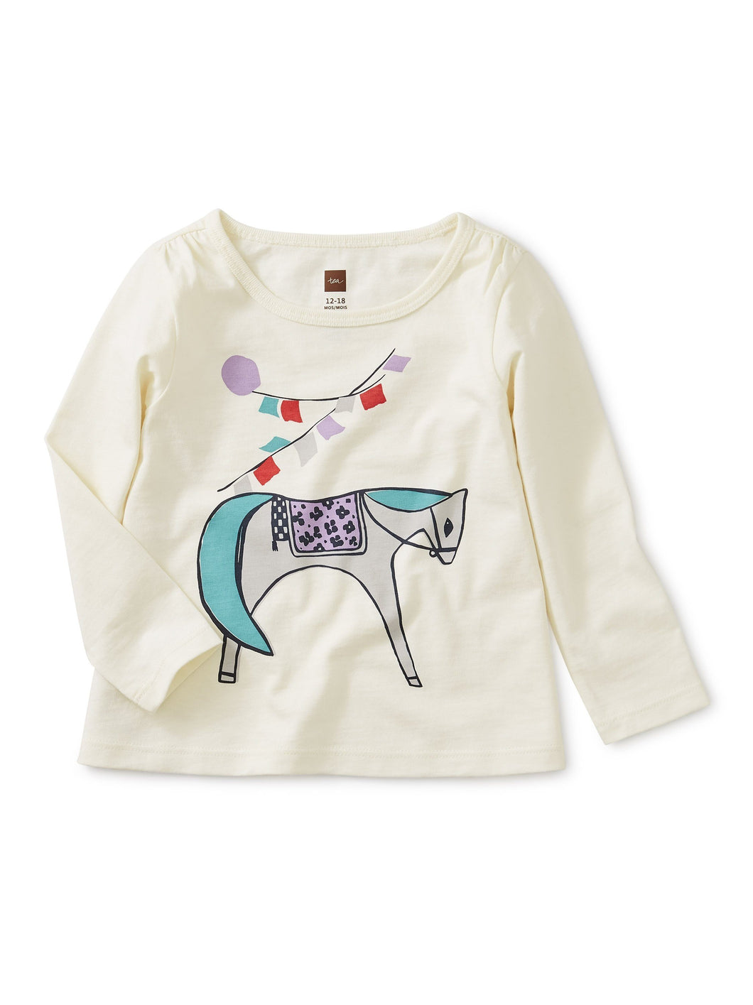 Long Sleeve Horse Top - Pitter Patter