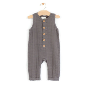 Muslin Steel Romper Romper City Mouse 6-9m