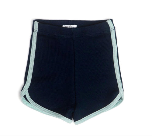 Navy & Mint Short Shorts Tun Tun 0-3m