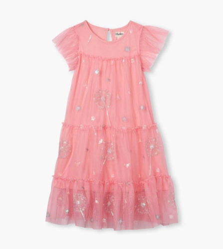 Pink Flutter Tulle Dress Dresses Hatley Kids 4