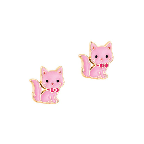 Pink Kitty Earrings - Pitter Patter