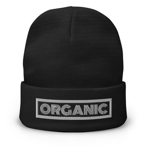 ORGANIC Embroidered Beanie