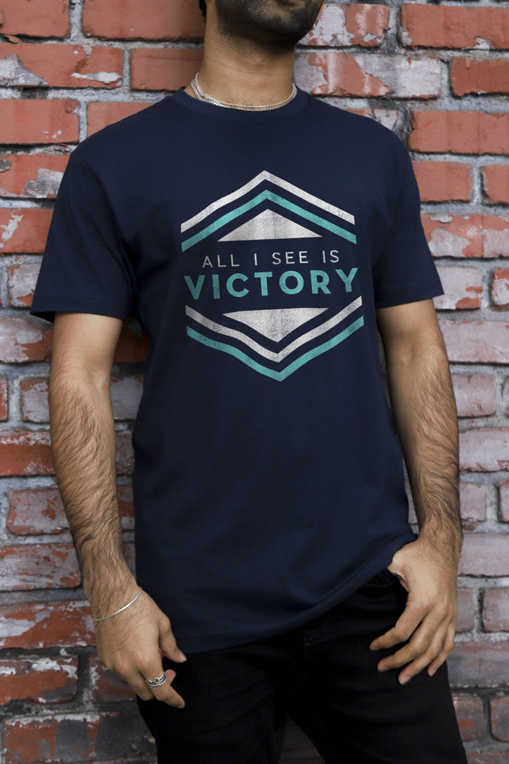 Victory Hexagon Navy T-Shirt