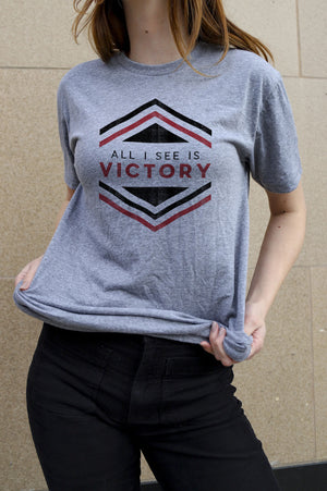 Victory Hexagon Heather Grey T-Shirt
