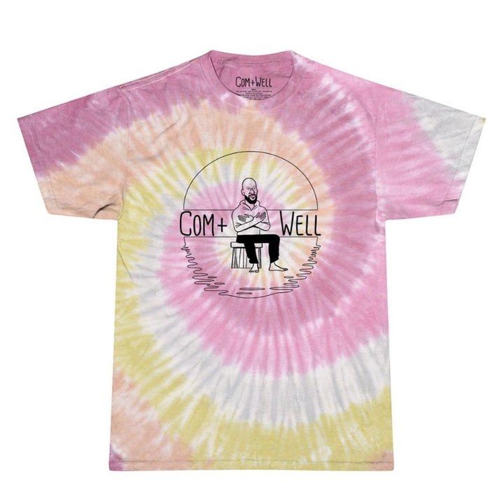 COM+WELL Simple Logo Tie Dye T-Shirt