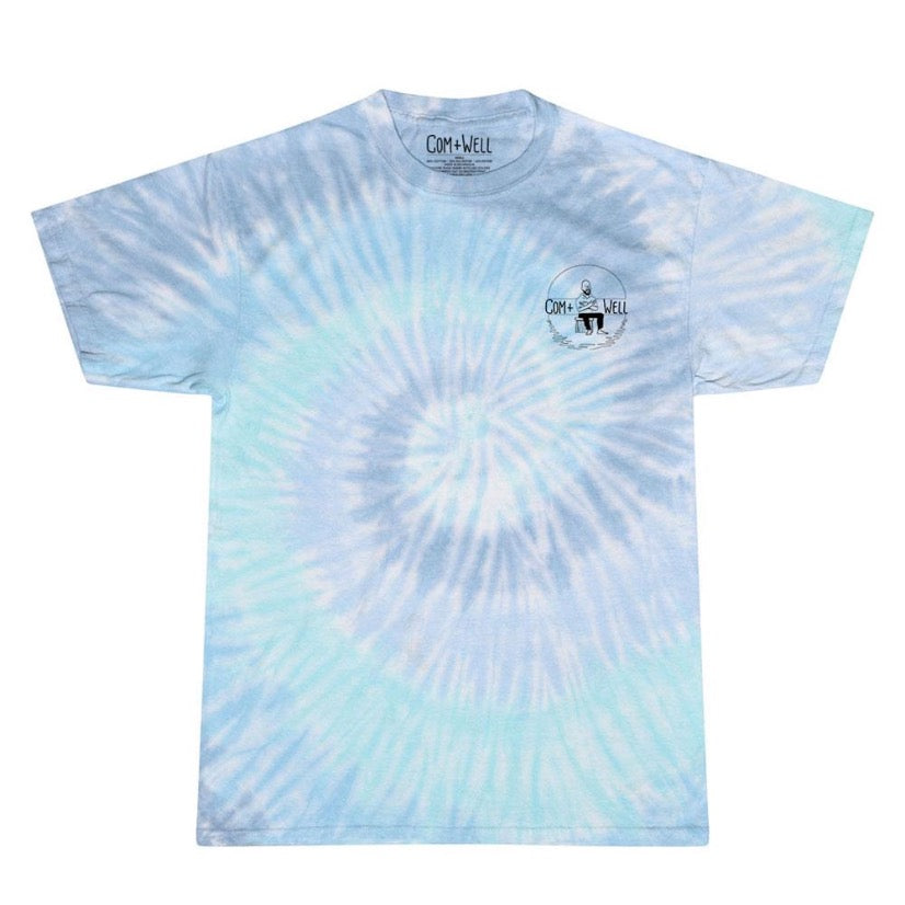 COM+WELL Simple Logo Pocket Tie Dye T-Shirt