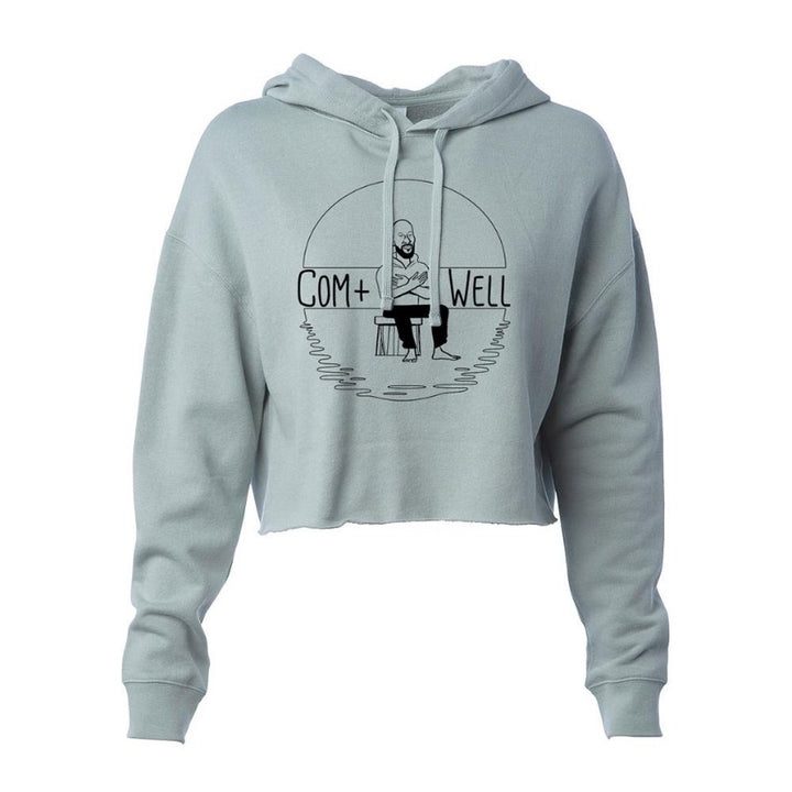 COM+WELL Simple Logo Pullover Crop Hoodie