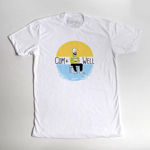 COM+WELL Logo White T-Shirt