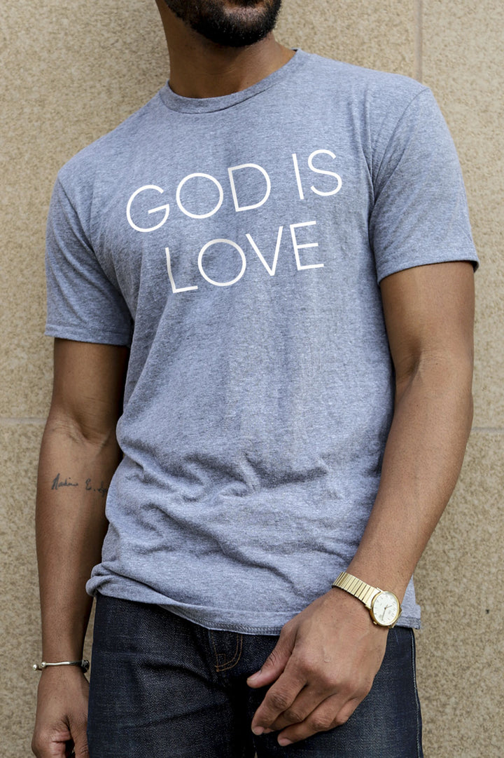 God is Love Heather Grey T-Shirt