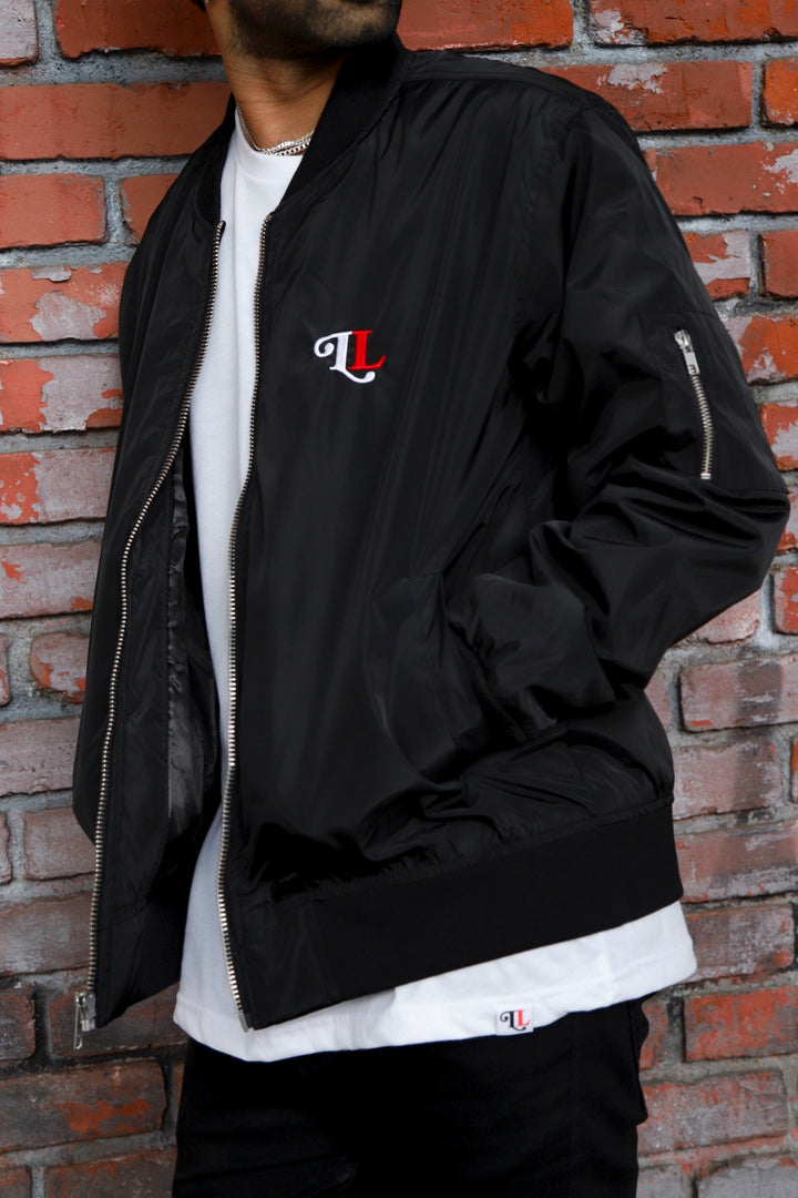 Let Love Black Bomber Jacket