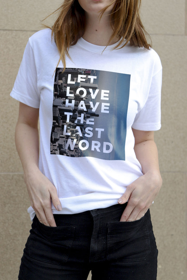 Let Love Chicago White T-Shirt