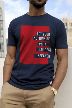 Loudest Speaker Navy T-Shirt