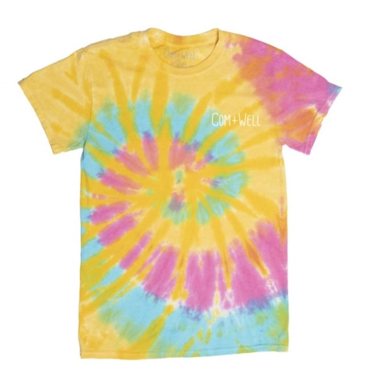 COM+WELL Script Pocket Logo Tie Dye T-Shirt