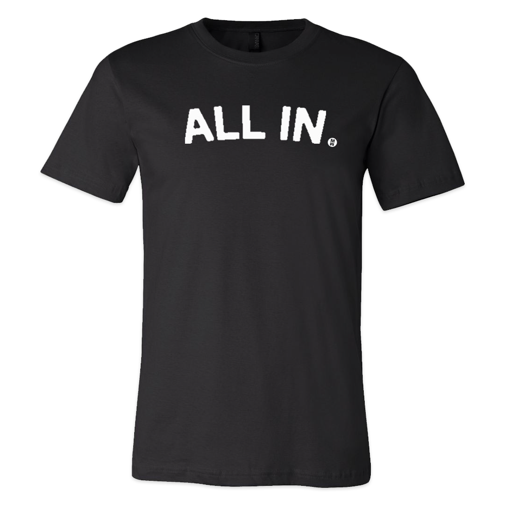 All In Block Text Tee