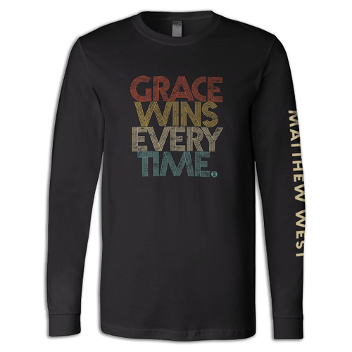 New - Retro Grace Wins Every Time. Long Sleeve Tee