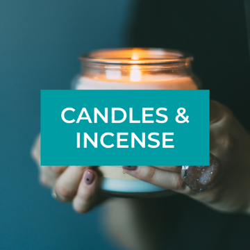 scented soy beeswax candles and incense