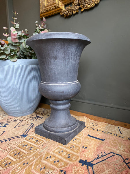 Large Concrete Effect Grey Urn
