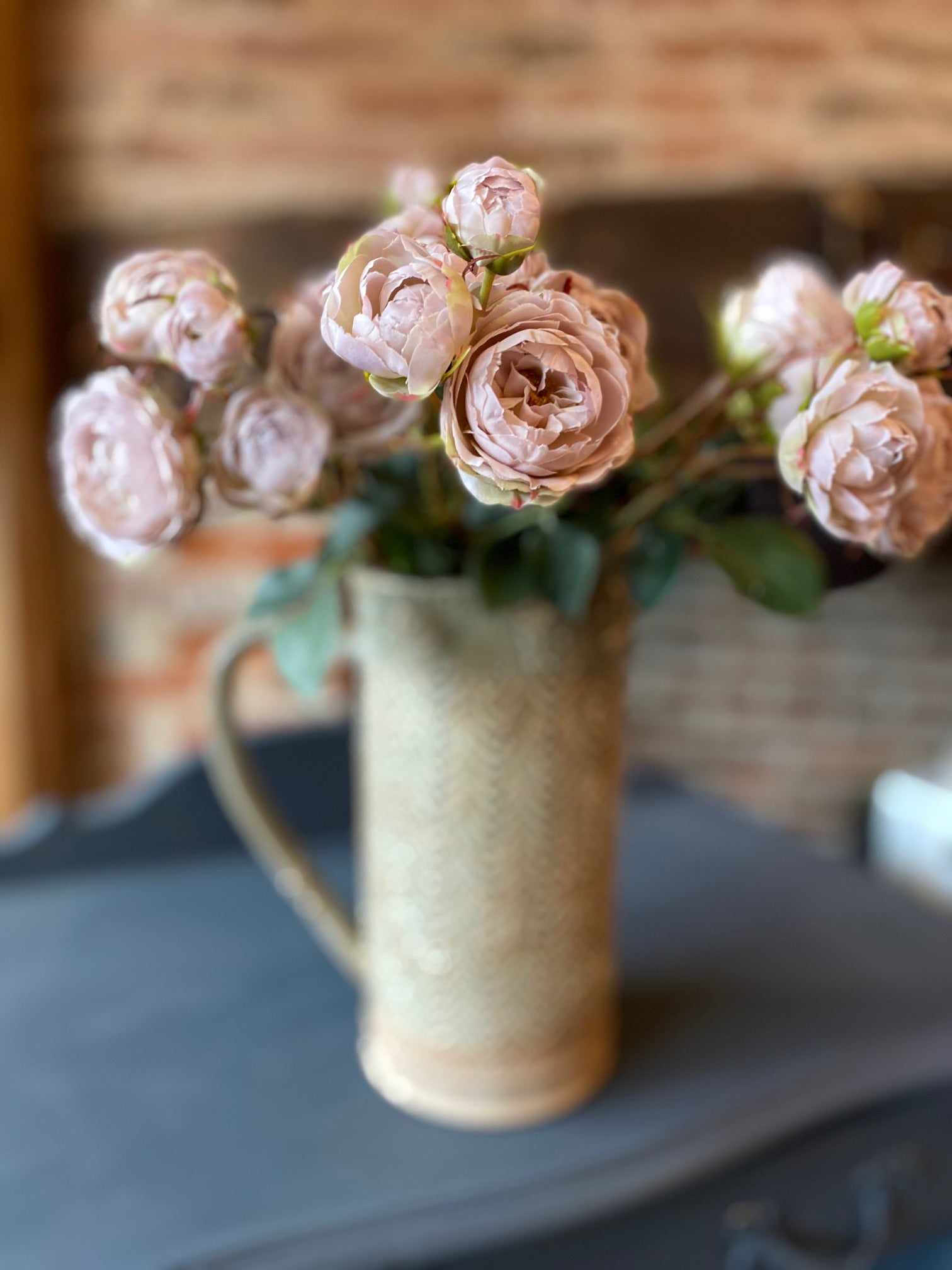 Soft Pink Vintage Rose Spray