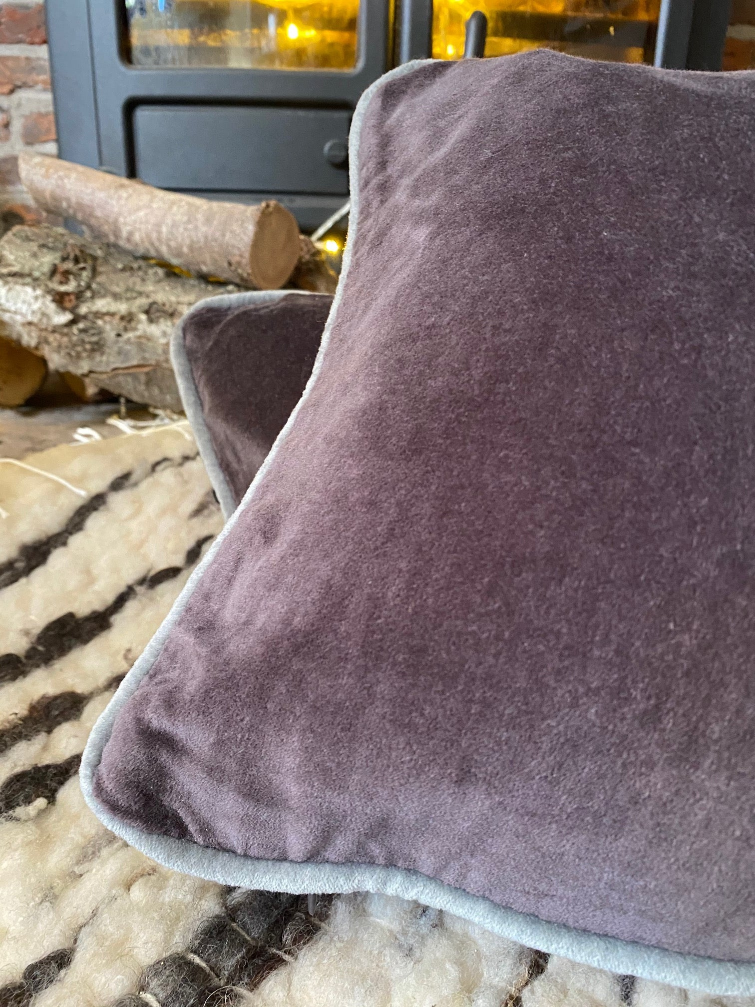 Plum Velvet Cushion