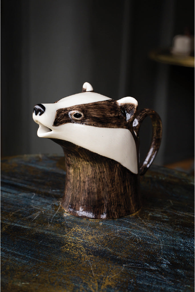 Ceramic Badger Jug
