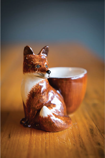 Ceramic Fox Egg Cup