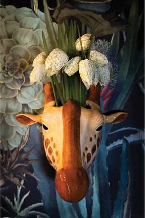 Ceramic Giraffe Wall Vase