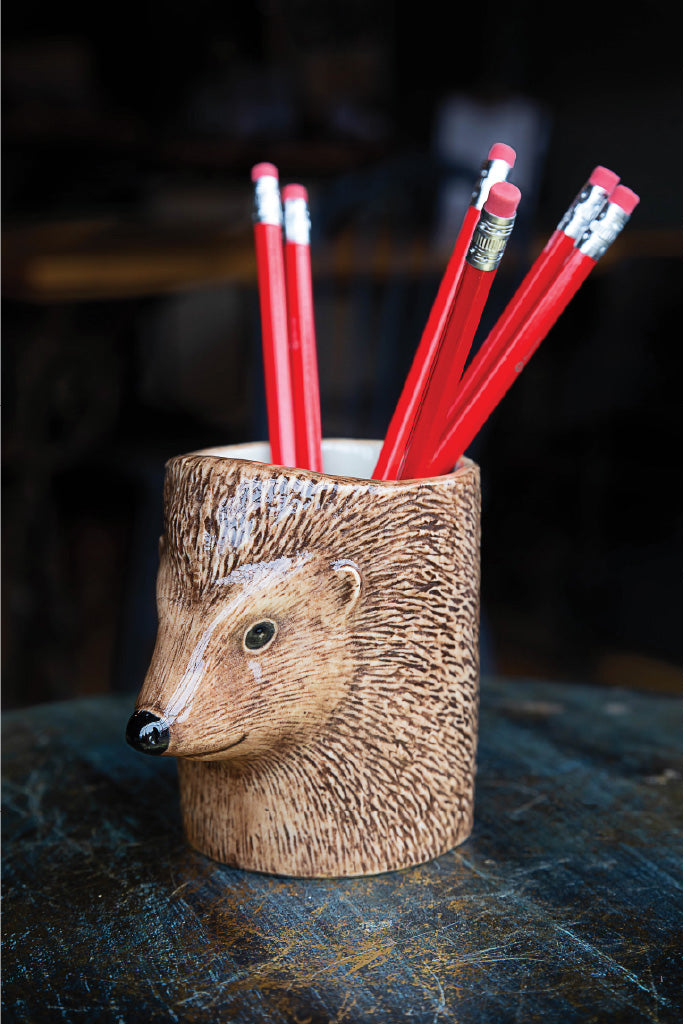 Ceramic Hedgehog Pencil Pot