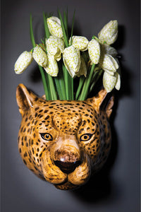 Ceramic Leopard Wall Vase